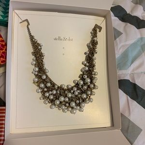 Stella & Dot Eve Bib Statement Necklace